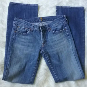 {7FAM} Classic Squiggle Pocket Bootcut Jeans
